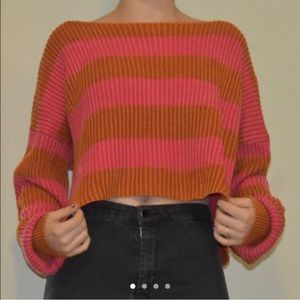 orange and pink striped sweater!